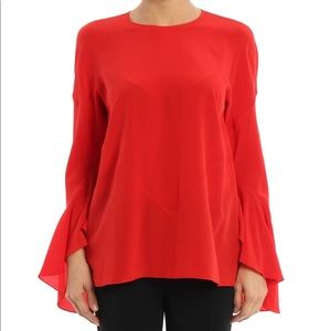 Givenchy Bell Sleeve Silk Blouse